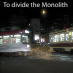 To divide the Monolith cover artwork